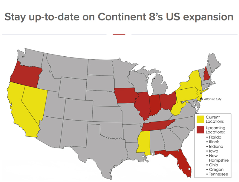 Stay up-to-date on Continent 8's US expansion